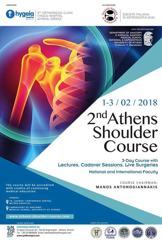 2nd Athens shoulder course 1-3/2/2018